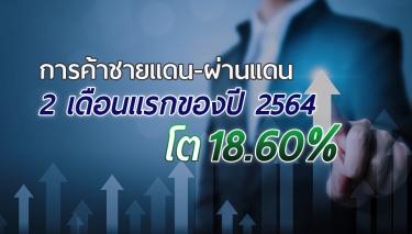 การค้าชายแดน-ผ่านแดน 2 เดือนแรกของปี 2564 โต 18.60%