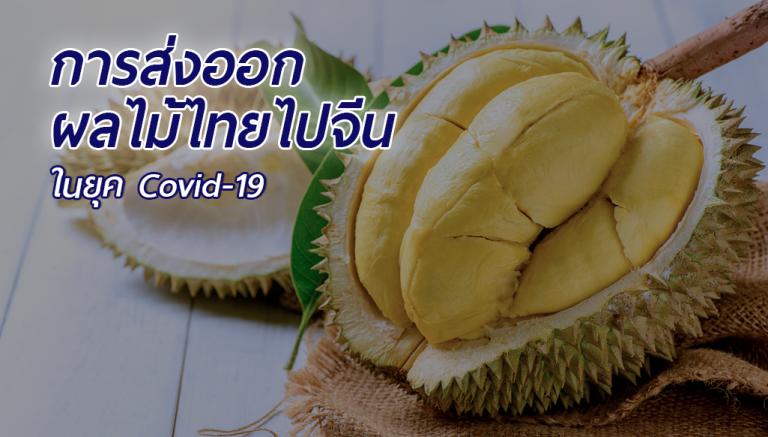 การส่งออกผลไม้ไทยไปจีน ในยุค Covid-19